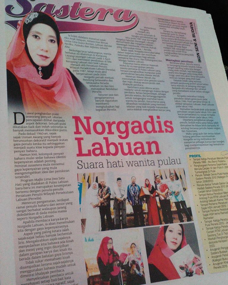 NORGADIS LABUAN, SASTRAWATI MALAYSIA ASAL LABUAN
