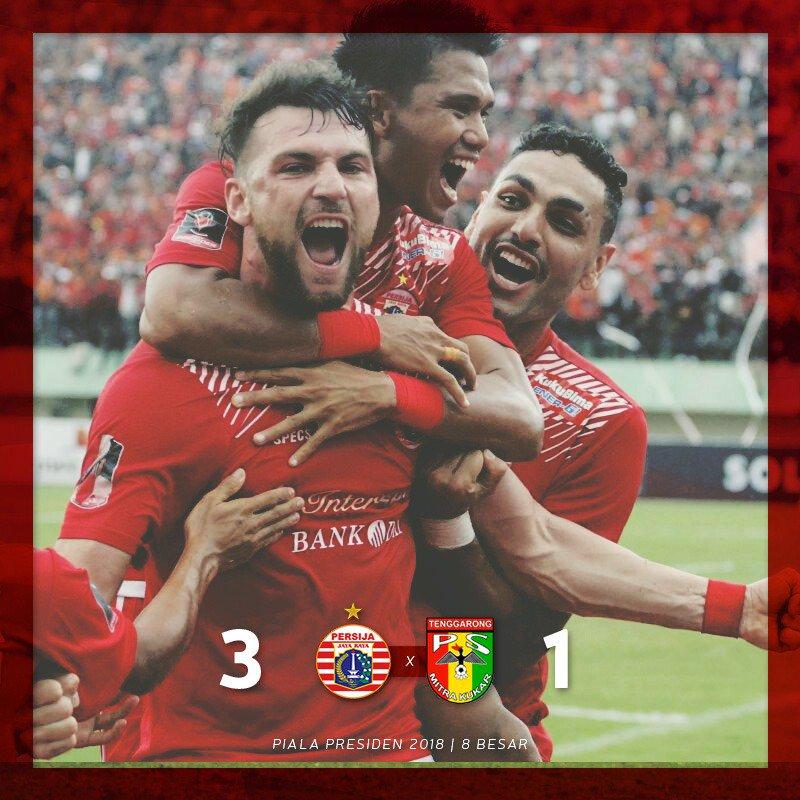 Mitra Kukar Takluk, Persija ke Semifinal Piala Presiden 2018