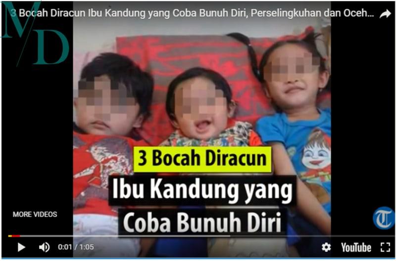 3 Bocah Diracun Ibu Kandung yang Coba Bunuh Diri, Karena Suami Berselingkuh dan Ocehan Mertua
