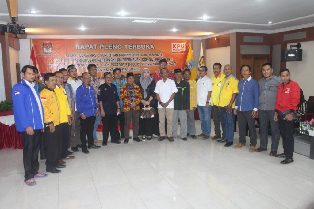16 Parpol di Kaltara Tunggu Penetapan Secara Nasional