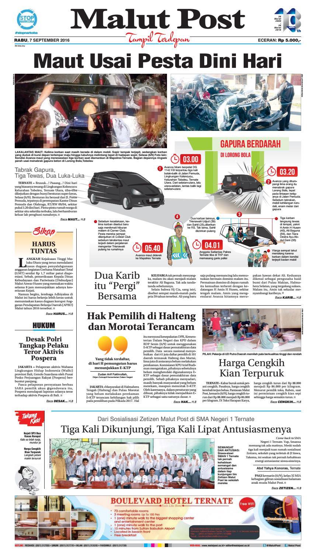 SEJARAH MEDIA MASSA DAN PENERBITAN DI TERNATE