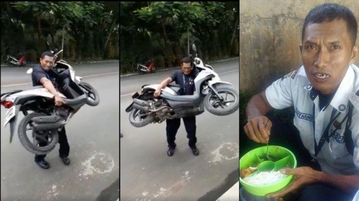 Video : Satpam Angkat Motor Karena Parkir Sembarangan