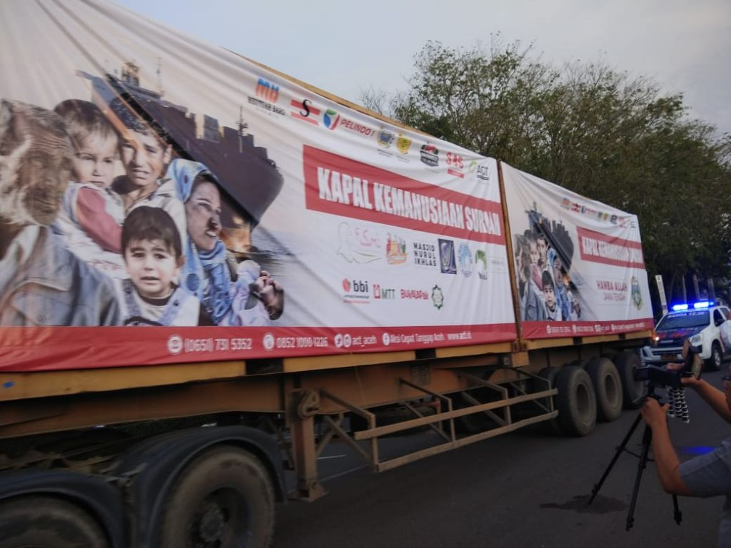 Dari Aceh, 1.000 Ton Beras Diberangkatkan ke Suriah