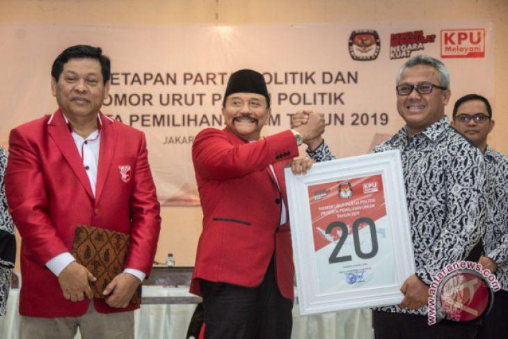 KPU RI Tetapkan PKPI sebagai Peserta Pemilu 2019 Nomor Partai 20