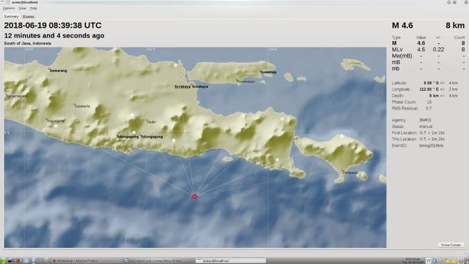 Gempa di Malang bagian Selatan