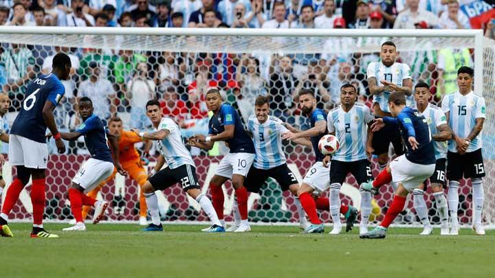 Video  Cuplikan Gol Prancis vs Argentina,  16 Besar Piala Dunia 201