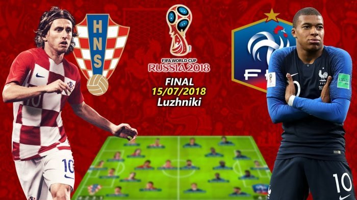 Video Cuplikan Final Piala Dunia 2018 :Prancis Vs Kroasia