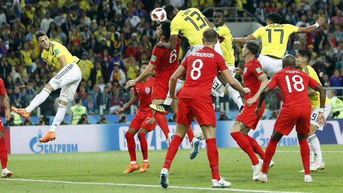 Video Cuplikan Gol Kolombia vs Inggris, 16 Besar Piala Dunia 2018