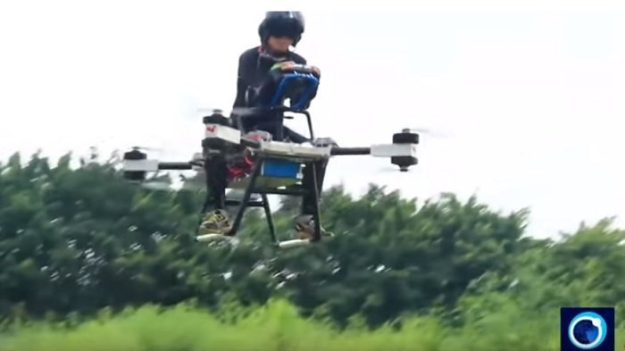 Pria Asal China Berhasil Ciptakan Skuter Terbang Pertama di Dunia