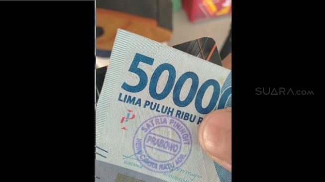 Heboh Uang dari ATM Berstempel 'Prabowo' di Tangerang