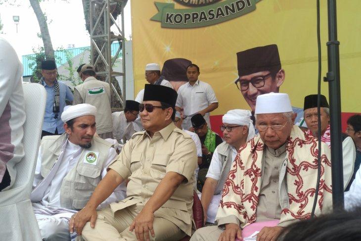 Prabowo :  saya maju bukan karena haus kekuasaan atau ambisi pribadi