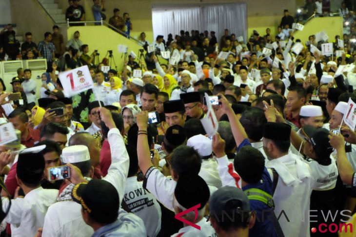Jokowi-Ma'ruf hadiri Deklarasi Dukungan Keluarga Besar Tubagus Chasan Sochi