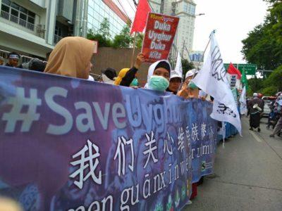 Aksi Bela Muslim Uighur Berlanjut di Sejumlah Kota