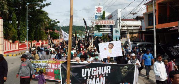 Masyarakat Poso Demo Menolak Diskriminasi Muslim Uighur