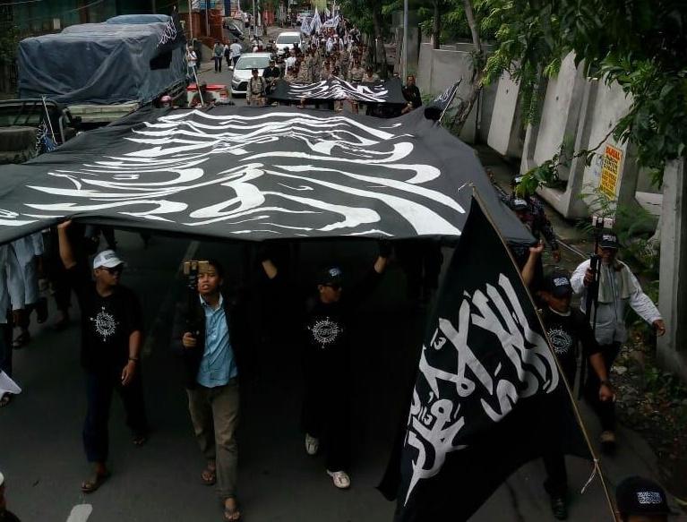 Aksi Bela Muslim Uighur Berlanjut di Sejumlah Kota ;   HEY CHINA STOP PENINDASAN TERHADAP MUSLIM UIGHUR!