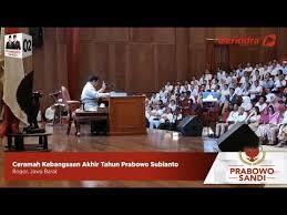 Video : Pidato Akhir Tahun Prabowo: Kesenjangan Sosial Bisa Memicu Kemarahan Rakyat