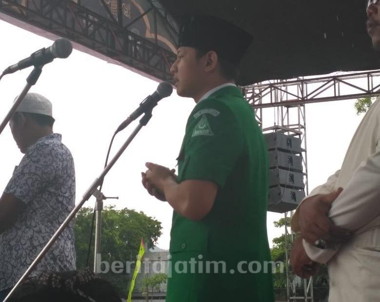 Dikabarkan Menghilang Misterius, Wabup Mas Ipin Sudah Nongol di Stadion Menak Sopal Trenggalek