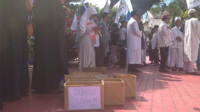 Aliansi Muslim Bersatu Balikpapan Demo Kecam Kekerasa Muslim Uighur