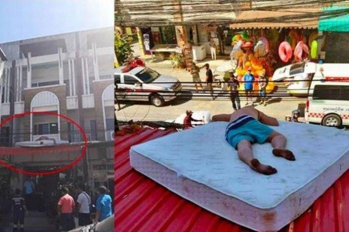 Turis Ini Malah Tidur di Atap Hotel, Warga Mengira Mau Bunuh Diri