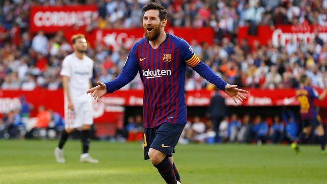Tonton Videonya, Hattrick Lionel Messi Bantu Barcelona Kalahkan Sevilla