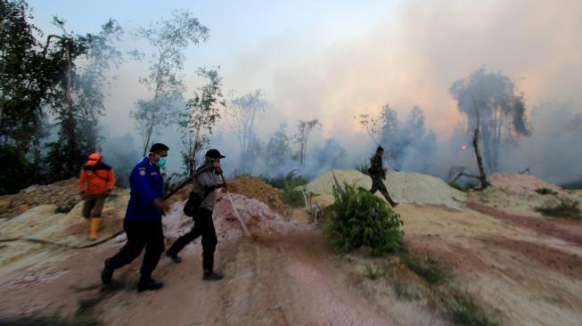 Jaga Pilpres 2019, Riau Siaga Kebakaran Hutan sampai 31 Oktober