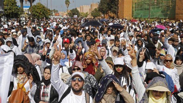 Aksi Damai Peringatan 8 Tahun Arab Spring di Maroko Ditanggapi Represif