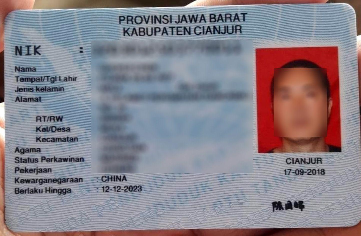 Cek Kabar NIK e-KTP Milik TKA China Cianjur Muncul di DPT, Plt Bupati Cianjur : Bisa Saja Itu Editan