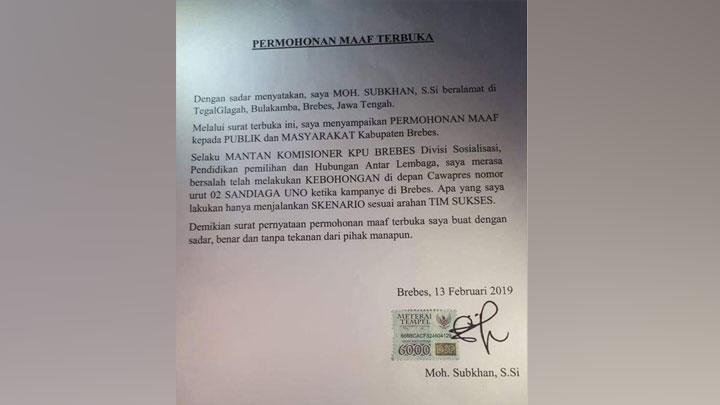 Viral Permintaan Maaf, Subkhan Petani Bawang Bantah Bikin Surat