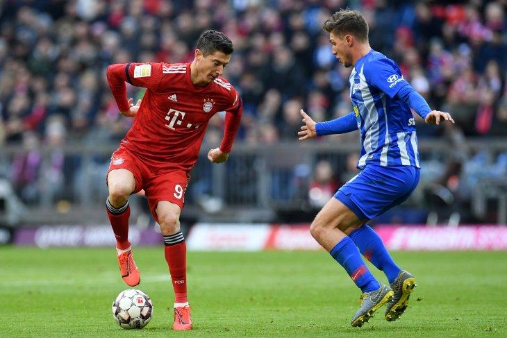 Bayern Kalahkan Hertha Untuk Tempel Dortmund di puncak