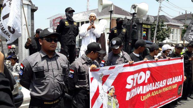 Bela Slamet Maarif, Forum Umat Islam Semarang Gelar Aksi di Polda Jateng