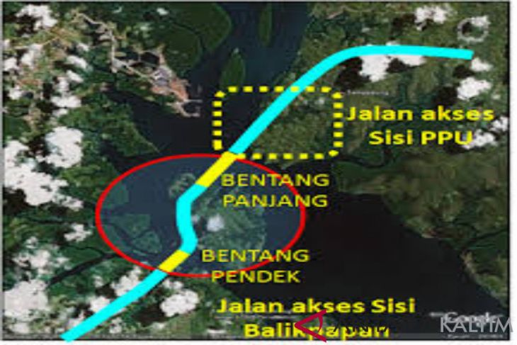 "Penetapan Lokasi ""Trase"" Jembatan Penajam-Balikpapan Rampung 15 Hari"