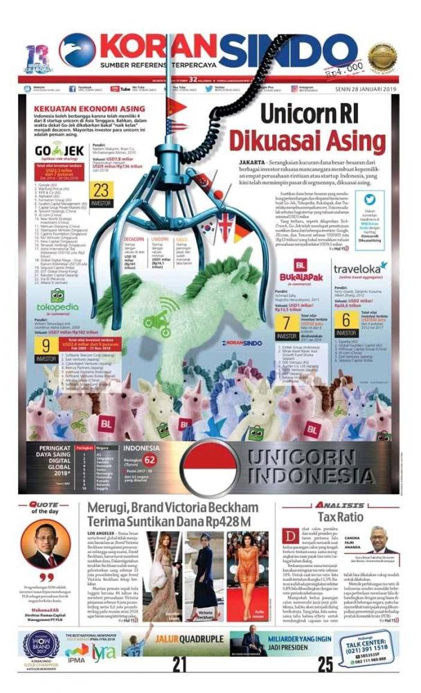 Di Balik Kebanggaan Jokowi  Dengan Unicorn Indonesia, Padahal  Dikuasai Invenstor Asing