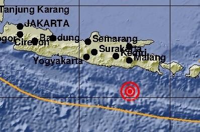Gempa 5.9 SR Guncang Kabupaten Malang