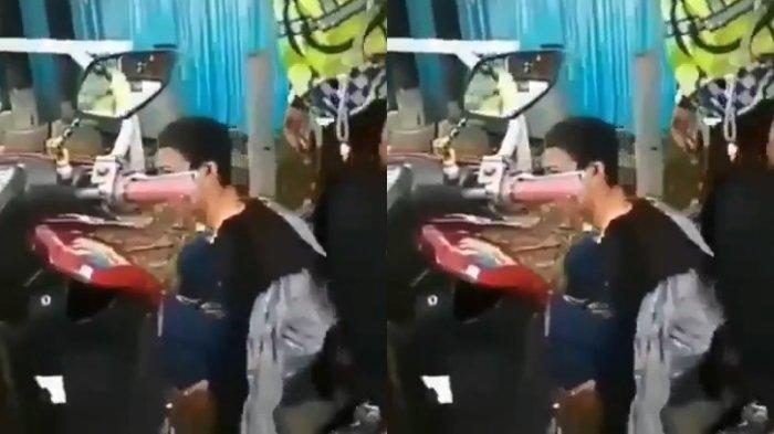 Viral Video Pengendara Motor di Tarakan Pukuli Polisi lantaran Tak Terima Ditilang