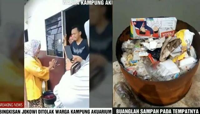 [Video Viral] Warga Kampung Aquarium Buang Bingkisan 01 ke Tempat Sampah