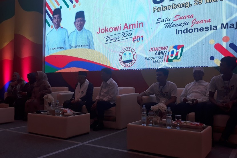 Ribuan Kiai dan Santri Sumsel Deklarasi Dukung Jokowi-Maruf