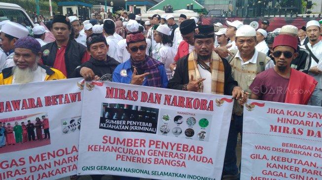 Massa PA 212: Jangan Coblos Caleg Partai yang Menolak Anies Jual Saham Bir