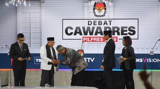 Penutup Debat; Sandiaga Tegaskan Satu Kartu, Maruf Amin Lawan Hoaks