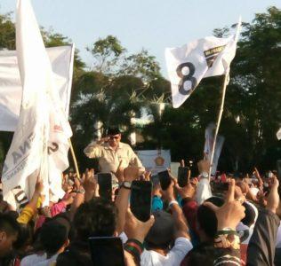 Kaltim Siap Menangkan Prabowo-Sandi, Prabowo : Rakyat Menginginkan Perubahan dan Tidak Bisa Dibohongi Lagi