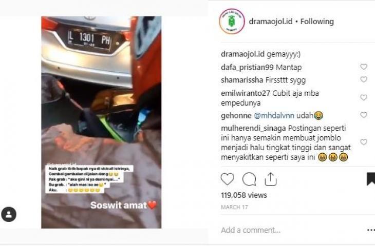 Video, Driver Ojol Sempatkan Video Call Romantis Sama istri Padahal Lagi Antar Customer