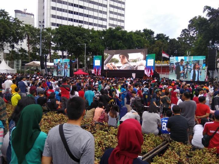 Anies Sebut Ahok Saat Peresmian MRT Jakarta, Warga Teriak Woooouuu …