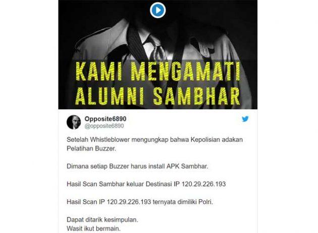 Viral 'Pengerahan Buzzer Dukung Paslon', Mabes Polri Bantah Investigasi @Opposite6890