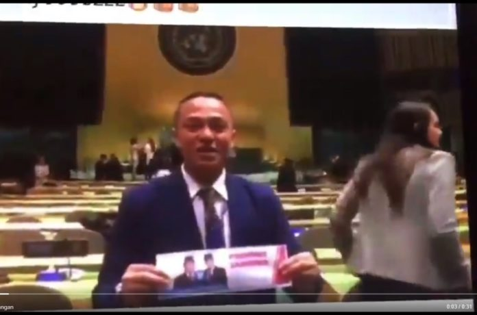 Beredar Video Dukungan dari Markas PBB Kepada Prabowo Sandi, Ini Penjelasan PTRI New York