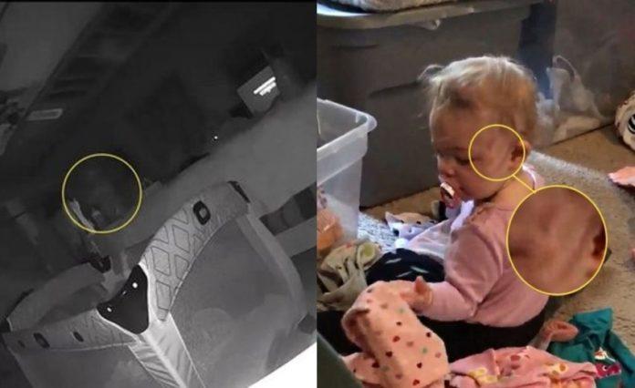 Sesosok Hantu Terekam Kamera Berjalan di Samping Ranjang Bayi, di Pipinya Terdapat Luka Goresan