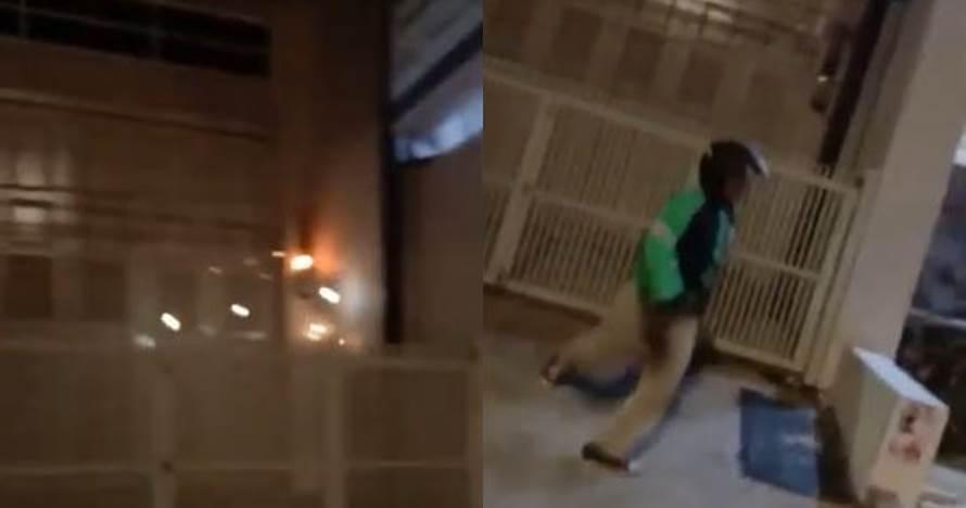 Tak Hanya Menonton, Patut Dipuji Aksi Heroik Driver Ojol Padamkan Api yang Nyaris Melalap Rumah