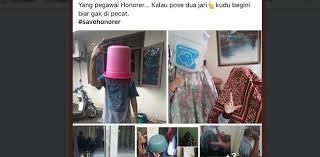 Aksi #Savehonorer, Hindari Pemecatan Gambar Pose 2 Jari Sambil Tutup Wajah Viral di Medsos,  Segitu Takutnya Melebihi Zaman Orba