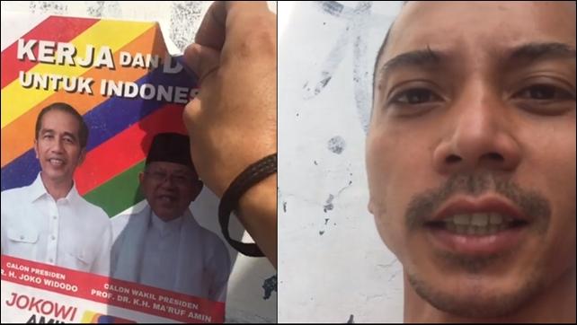 """Fauzi Baadila Copot Striker Jokowi-Ma'ruf, """"Sembarangan Main Asal Tempel Depan Rumah Gue"""""""