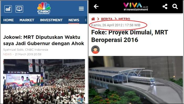 Hehehe, Jokowi Klaim MRT Berkat Keputusannya, Sejarah: Foke Groundbreaking Tahun 2012