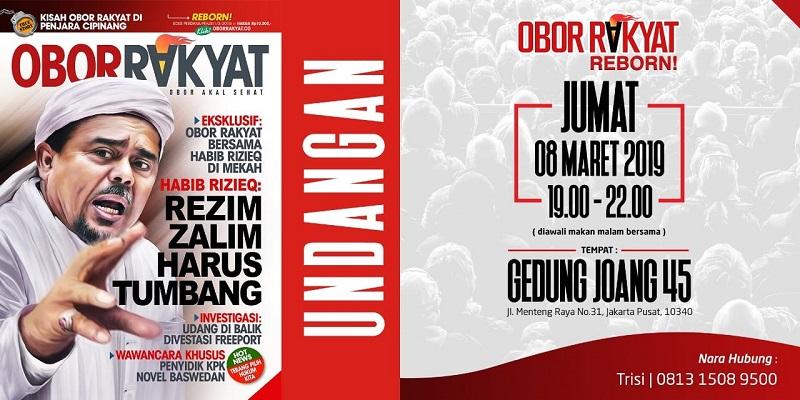 Malam Ini Launching, Habib Rizieq Cover Tabloid Obor Rakyat Reborn