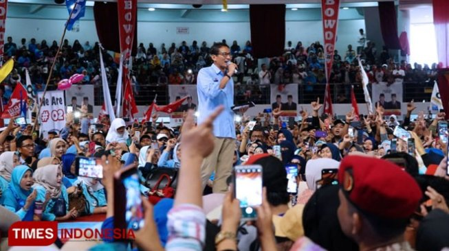 Sandi: Mau Harga listrik Turun dan Kerja? Tusuk Prabowo – Sandi